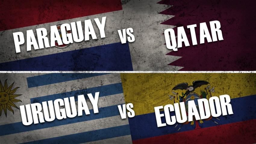Paraguay vs Qatar / Uruguay vs Ecuador