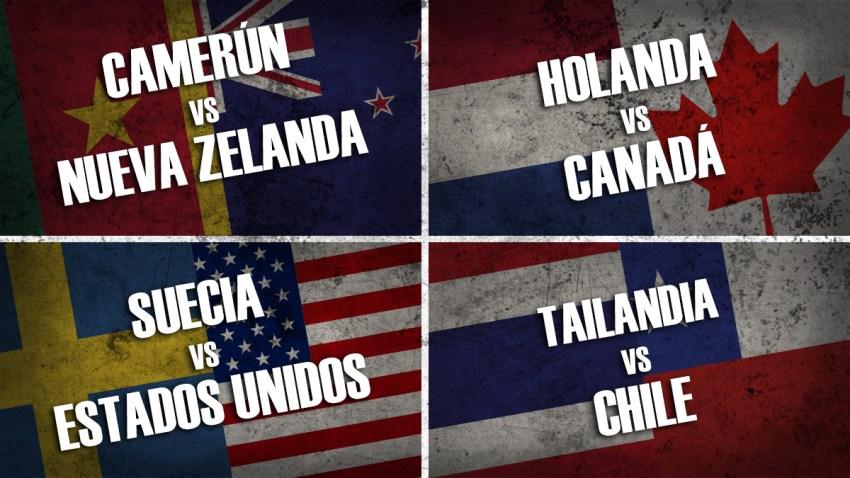 Camerún vs Nueva Zelanda / Holanda vs Canadá / Suecia vs Estados Unidos / Tailandia vs Chile