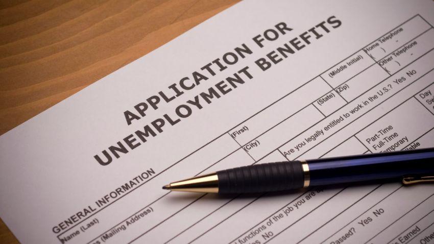 unemployment benefits application stock image