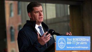 Boston Mayor Marty Walsh holds coronavirus news conference