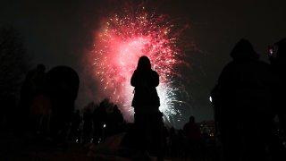Fireworks at First Night Boston