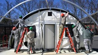 Connecticut National Guard sets up tents