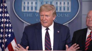 President Trump at podium