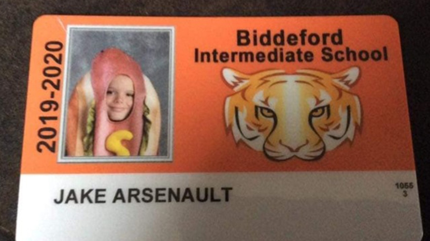 Hot dog custume Biddleford Intermediate School Maine