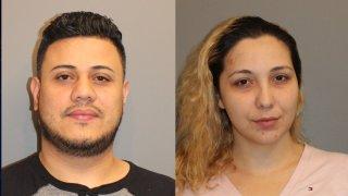 Booking photo of Jose Valenzuela and Lisbeth Castillo-Cruz