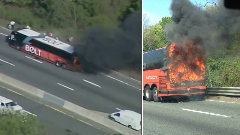 TLMD-newton-bus-incendio-mass-pike-I-90