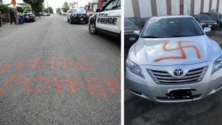 spray painted vandalism