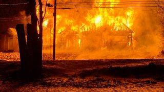 burlington house fire