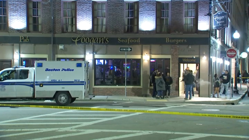 Boston police say a man was assaulted around 10:45 p.m. Thursday at Coogan's,