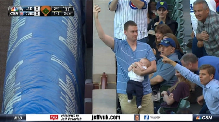 cubs fan catch