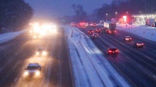 generic snow highway freeway
