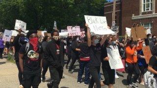 Protesters in Hartford,