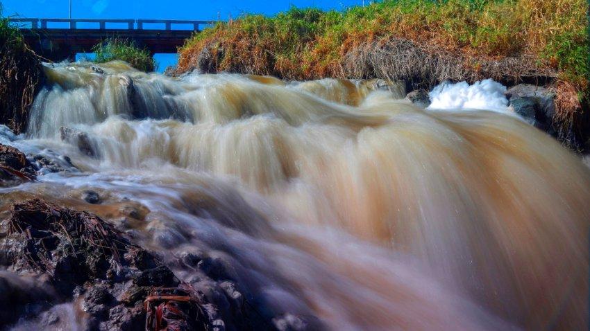 Contaminación del río Santiago, en México.