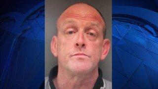 Mugshot of 48-year-old Timothy Caulfield, of Framingham, Massachusetts.