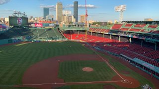 An empty Fenway Park ahead of the first exhibition game of 2020