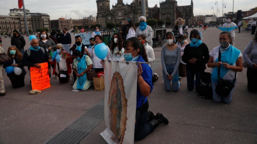 Protestan contra despenalización del aborto