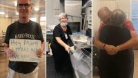 Separados por la pandemia: acepta puesto de lavaplatos en ancianato para ver a su esposo