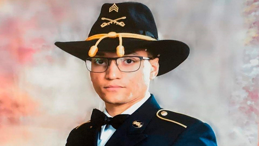 "This photo provided by the U.S. Army shows Sgt. Elder Fernandes. Fort Hood officials have issued a missing soldier alert for Fernandes. In the alert issued Thursday, Aug. 20, 2020, officials said the 23-year-old soldier with the 1st Cavalry Division is the subject of an active search and that their ""primary concern is to ensure his safety and well-being."""