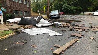 Storm damage in Hamden