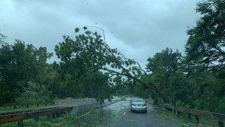 Storm damage Merritt Parkway