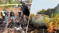 Avión se estrella durante entrenamiento en Ucrania: hay un solo sobreviviente
