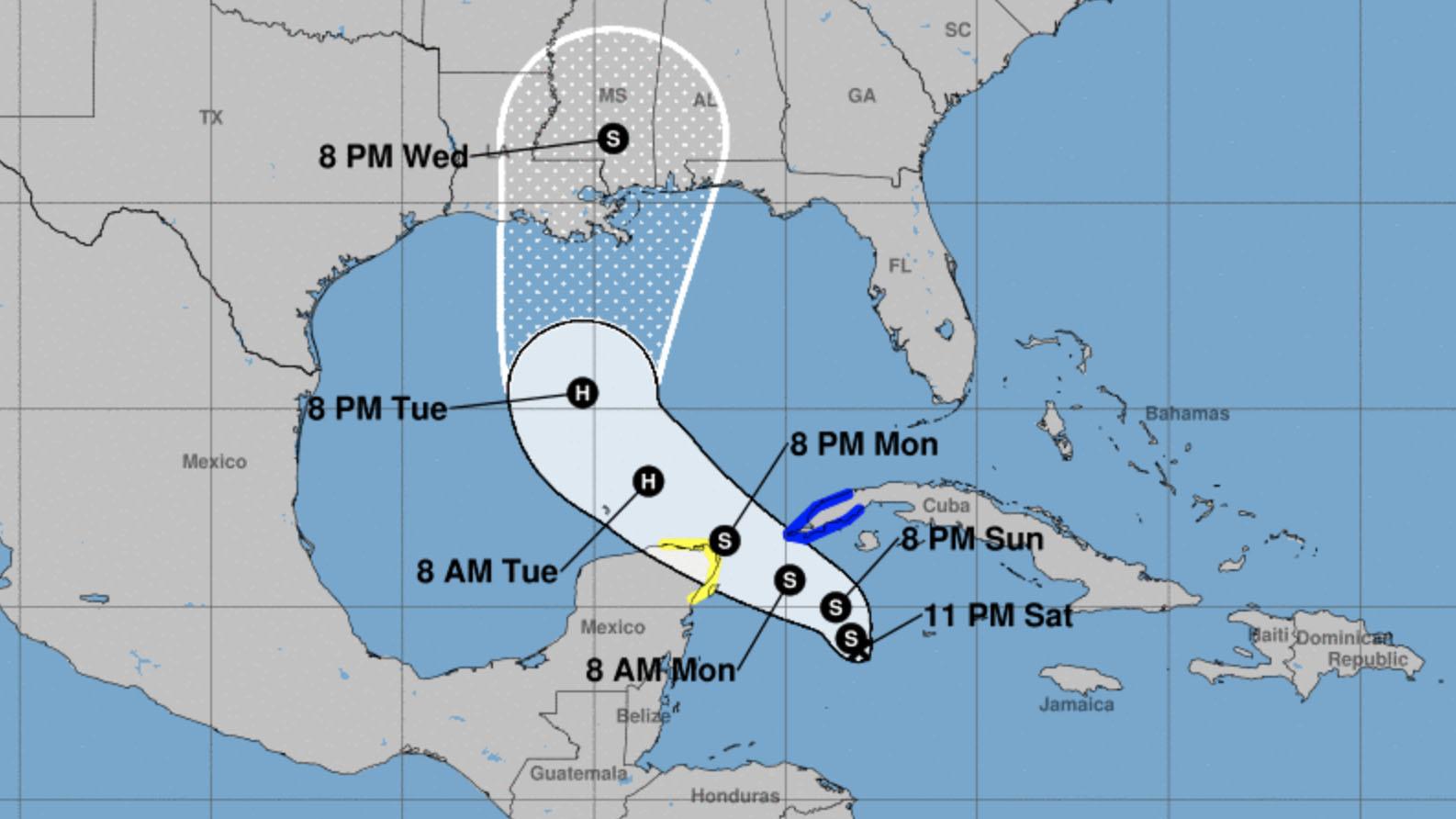 La depresión tropical 28 cobra fuerza en el Caribe