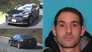 An image of Anthony Lonano Sr., who police said did not return his son from a parental visit to Salem, is seen along with the vehicle he is believed to be driving in handout images.