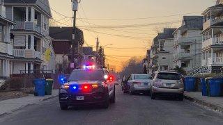 Police on Alder Street in Waterbury
