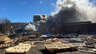 Fire a Albert Brothers in Waterbury