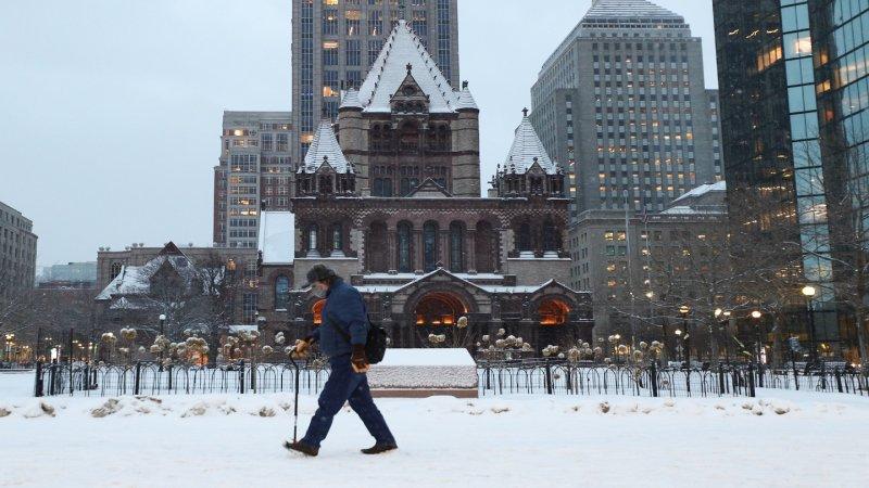 FOTOS: Boston amanece bajo ligera capa de nieve