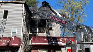 Fire on Walnut Street in Waterbury