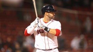 J.D. Martinez of the Boston Red Sox at bat