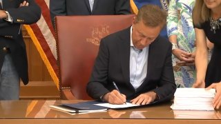 Governor Lamont signs budget on June 23 2021
