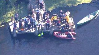 Equipos de rescate en Hyde Park