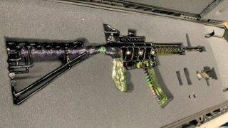 A glass replica of a firearm TSA officials discovered at Boston Logan International Airport.