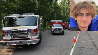 Emergency crews searching for missing teens and a photo of missing Plainville teen Anthony Nagore