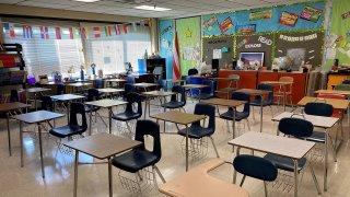 A classroom in Waterbury