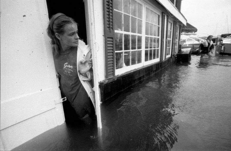 Así se veía Massachusetts cuando lo golpeó el Huracán Bob en 1991
