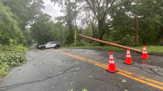 Storm damage on Flanders Road in Coventry