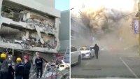 Captado en video: descomunal explosión en un hotel deja muertos y heridos