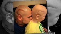 Un niño de Kansas que batalla contra el cáncer dice que su papá es su héroe.