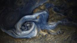 Foto semanal de la NASA: inmensa tormenta azota Júpiter