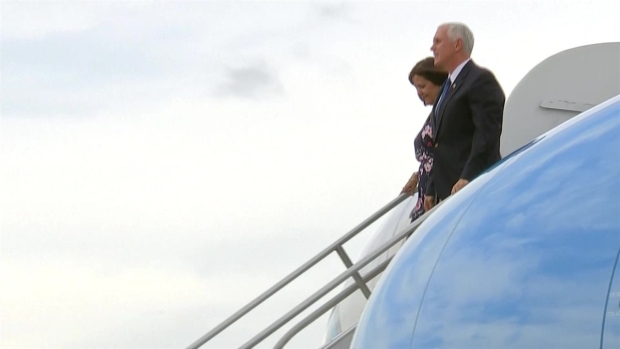 [TLMD - MIA] Vicepresidente Pence llega a Colombia