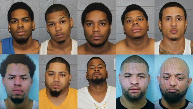 10 arrestados en operativo de drogas en Springfield
