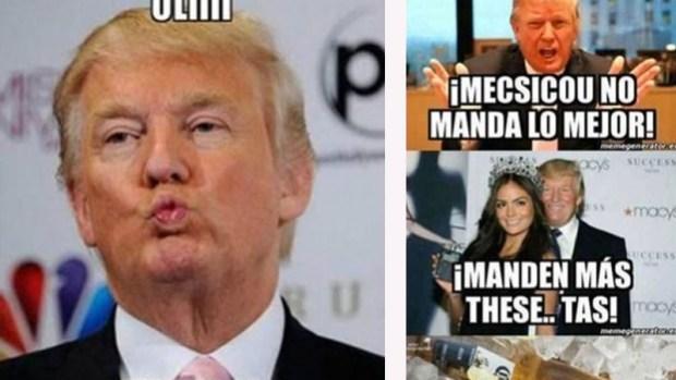 Se burlan con memes de Donald Trump