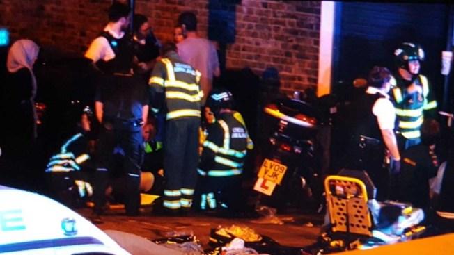 Una camioneta arrolló a fieles en Londres